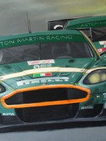 Aston Martin DBR9 BMS Racing #1 - 2006 - cm.90x60 -  Acrilico su tela / Acrylic on canvas