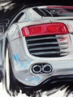 Audi R8 - 2007 - cm.70x70 - Acrilico su tela / Acrylic on canvas