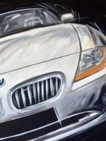 BMW Z4 - 2007 - cm.70x70 - Acrilico su tela / Acrylic on canvas