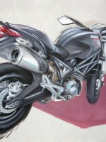 Ducati Monster - 2014 - cm.100x70 -  Acrilico su tela / Acrylic on canvas