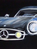 Mercedes 300 SL - 2009 - cm.100x50 -  Acrilico su tela / Acrylic on canvas
