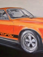 Porsche Carrera - 2010 - cm.100x50 -  Acrilico su tela / Acrylic on canvas