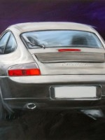 Porsche Carrera 4 - 2014 - cm.80x55 - Acrilico su tela / Acrylic on canvas