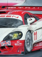 Saleen S7R Balfe Motorsport - 2006 - cm.70x70 - Acrilico su tela / Acrylic on canvas