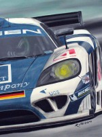 Saleen S7R Zakspeed Racing - 2006 - cm.60x60 - Acrilico su tela / Acrylic on canvas