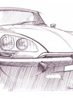 Citroen DS - Inchiostro su carta Ink on paper