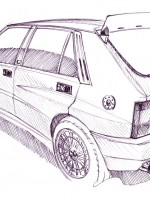 Delta HF Integrale - Inchiostro su carta Ink on paper